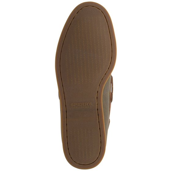f69e0a76521b ... moc-toe styling and hand-sewn leather uppers of these comfortable  slip-on boat shoes. Sperry Top-Sider Men s A O 2-Eye Cross Lace Olive Tan  Boat Shoe