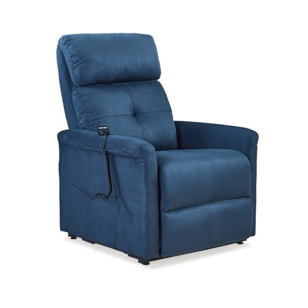 Cl30 Lift Chair - Toronto Power Recline and Lift Chair in Blue Microfiber
