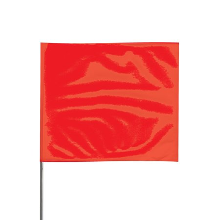 Presco Steel Wire Staff Marking Flags: 2-1/2 in. x 3-1/2 in. Flag / 15 in. Steel Wire (Red) [1 Pack of 12 (Restaurant With Red White And Green Flag Logo)