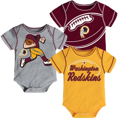NFL, Team: REDSKINS ,NB/INF 3 Pack Creepers, Team Color/Grey/Alternate Team Color - Redskins Colors