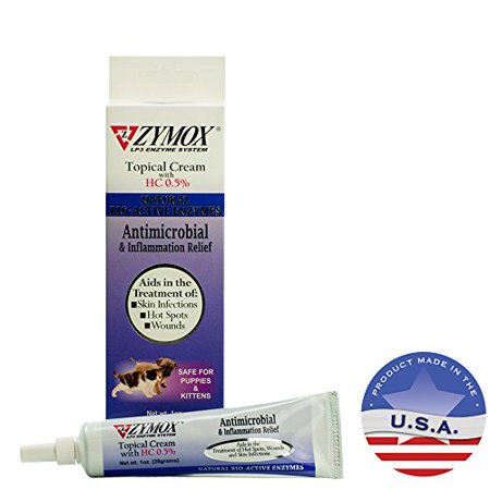 Zymox Topical Cream With 0 5 Hydrocortisone 1 Oz