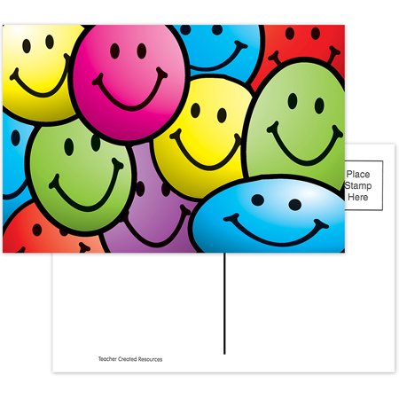 Smiley Face Charts - SMILEY FACES POSTCARDS 30PK