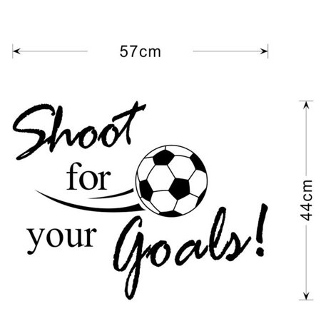 Mosunx New Shoot For Your Goals Football Soccer Removable Decal Wall Sticker Home Decor