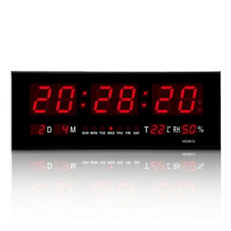 Digital Large Big Digits LED Wall Desk Clock With Calendar (Electronic Big Digit Clock)