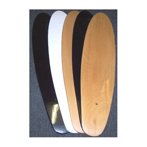 5 Blank Longboard Decks 9x40 Kicktail Skateboard by