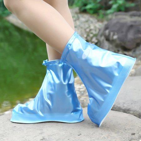 Waterproof Shoes Cover Reusable Rain Snow Boots Wear-resistant Slip-Resistant Overshoes Covers for Men & Women Color:White Size:XXL - image 1 de 8