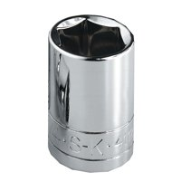 SK Hand Tool 45122 12 Point 3/8-Inch Drive Standard Socket, 11/16-Inch, Chrome
