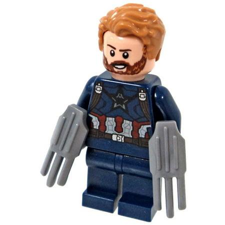 LEGO Marvel Avengers Infinity War Captain America Minifigure [With Beard and 2 Wakandan Shields] [No