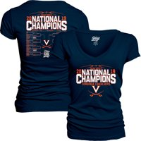 Virginia Cavaliers Blue 84 Women's 2019 NCAA Men's Basketball National Champions Bracket V-Neck T-Shirt - Navy