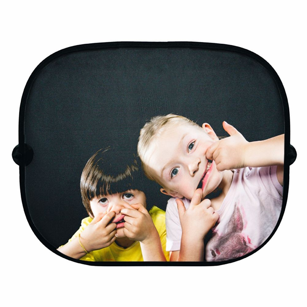 Children's Fun Sun Car Window Shade Two Crazy Kids by DONKEY PRODUCTS
