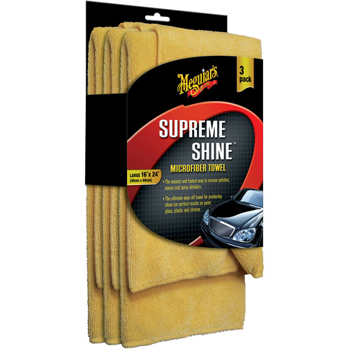 Meguiar's Supreme Shine Microfiber Towel, 3-Pack