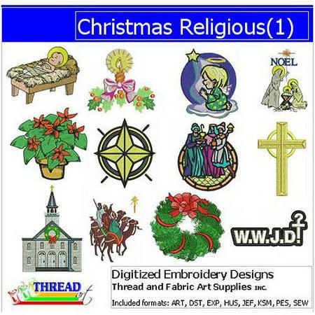 ThreadArt Machine Embroidery Designs Christmas Religious CD ()