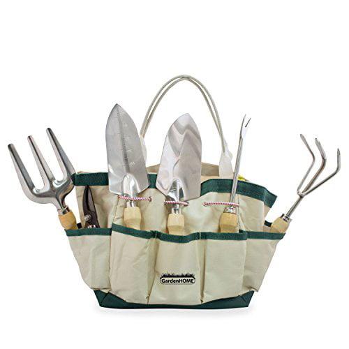 GardenHOME 7 Piece Garden Tool Set (Garden Tool and Tote Set) by Garden Tools