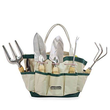 GardenHOME 7 Piece Garden Tool Set (Garden Tool and Tote Set) (Seasons Garden Tool Tote)