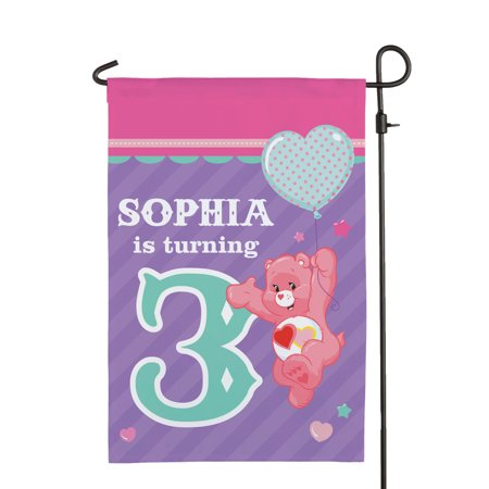 Personalized Care Bears Birthday Flag - Ready Set Fun