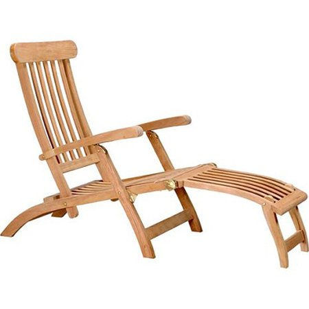 D-Art Collection Teak Steamer Lounge Chair Collection Chaise Lounge