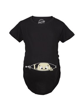 f5504d24689eb Product Image Crazy Dog TShirts - Maternity Baby Peeking Shirt Funny  Pregnancy Cute Announcement Pregnant T shirts