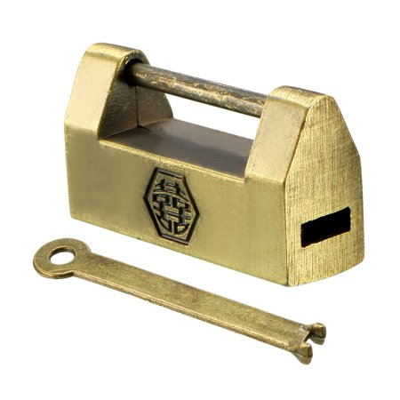 30mm Body Width Padlock Antique Chinese Old Style Zinc Alloy Brass (Plated Padlock)