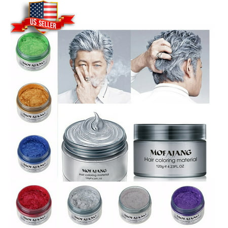 Unisex DIY Hair Color Wax Mud Dye Cream Temporary Modeling 7 Colors Mofajang  GREEN for $<!---->