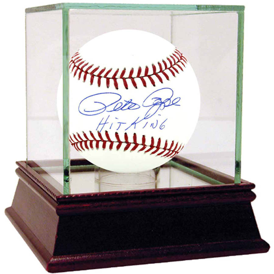 Pete Rose MLB Baseball with Hit King Inscription