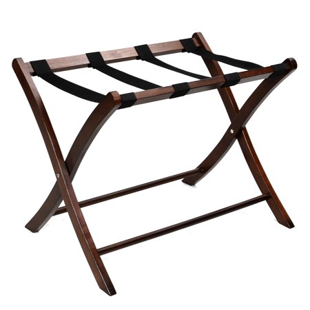 Folding Winsome Wood Luggage Rack Classic Hotel Suitcase Stand Passenger