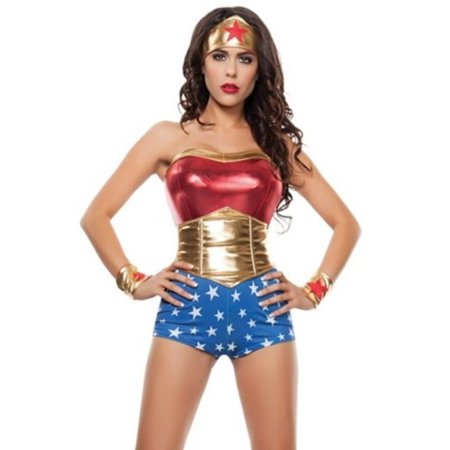 Lady Power Costume S4561 Starline Red/Blue/Yellow