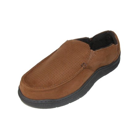 Men's Microfiber Suede Closed Back Slipper with Memory Foam - Glass Slippers Are So Back