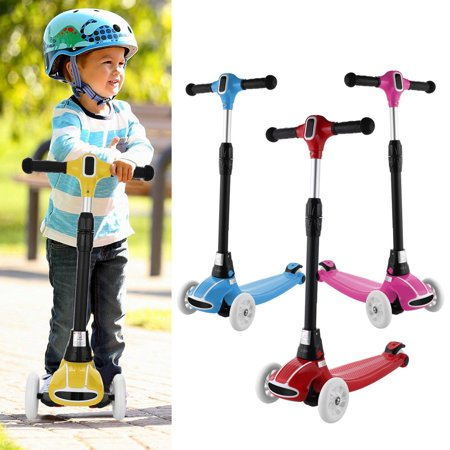 Best Gift for Kids!Portable 3 Wheel Kids Kick Scooter for Both Boys and Girls Fits 3~17 Years old - Gifts For 12 Year Old Boy