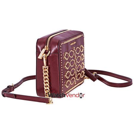 fddf506039ad Michael Kors Ginny Medium Studded Leather Crossbody- Oxblood - image 1 of 4  ...