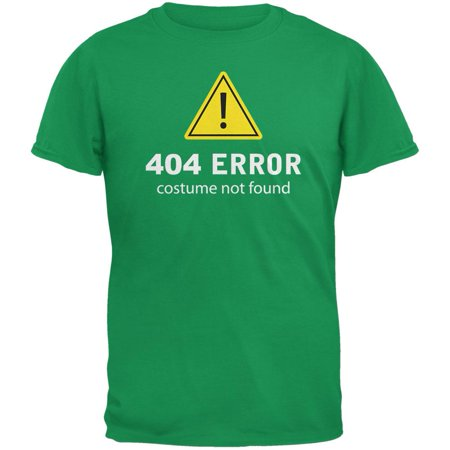 Halloween 404 Costume Not Found Irish Green Adult - 404 Halloween Costume Not Found