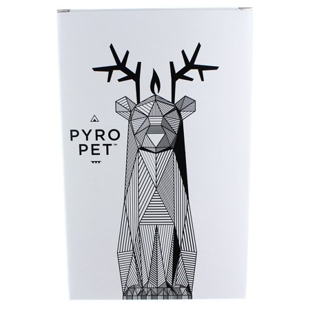 PyroPet Reindeer Candle: Light Blue