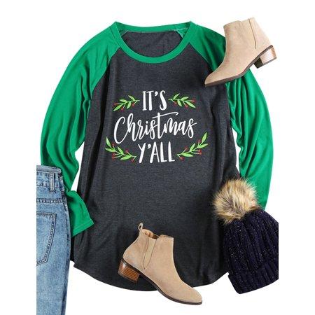Christmas Shirt (DBoard Women Christmas Tops Letter Print Long Sleeves Tee)