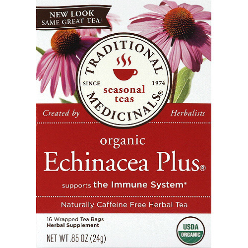 Traditional Medicinals Organic Echinacea Plus Caffeine Free Herbal Tea, 0.85 oz, (Pack of 6)