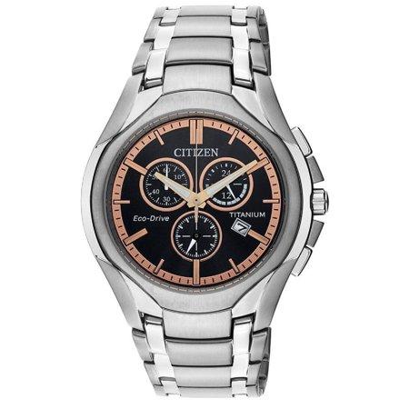 Citizen Chrono Watch (Citizen Eco-Drive Titanium Chrono Black Dial WR 100m Men's Watch AT0940-50G)