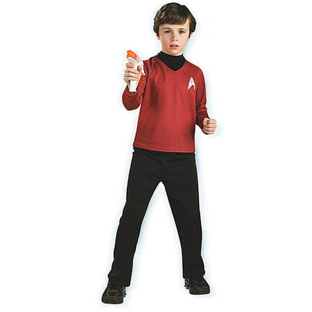 Star Trek Movie Deluxe Shirt Child Costume Halloween, Red - Data Star Trek Costume