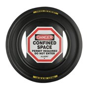 ALLEGRO Danger Sign, 4In, BK and R/WHT, ENG, Text 9400-24