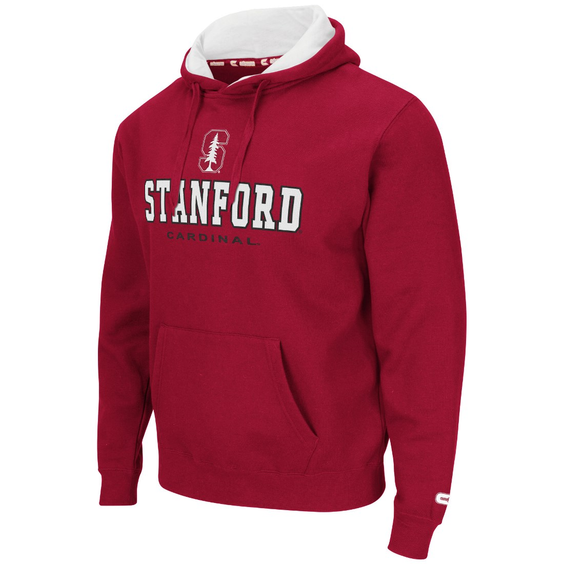 "Stanford Cardinal NCAA ""Zone II"" Pullover Hooded Men's Sweatshirt - Red"