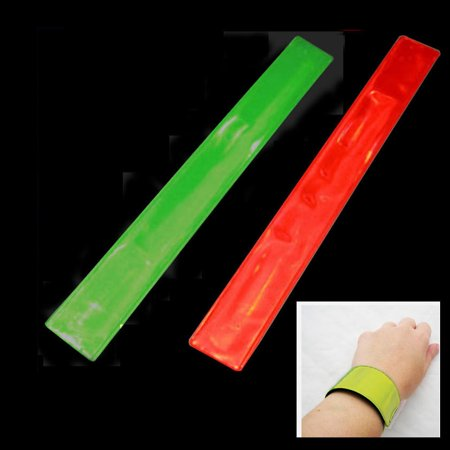 1 Reflective Wrist Band Safety Arm High Visibility Construction Traffic -