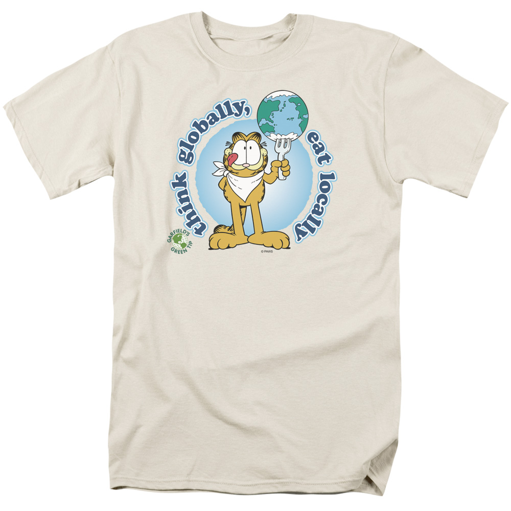 Garfield/Think Globally   S/S Adult 18/1   Cream     Gar365
