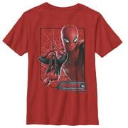 Marvel Boys' Spider-Man: Far From Home Web Frame T-Shirt