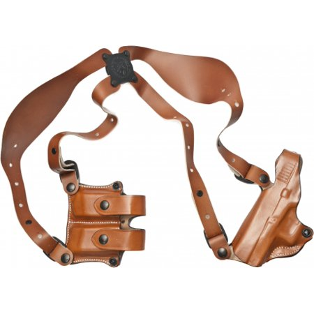 DeSantis New York Undercover Shoulder Holster - Left, Tan w/ Double Mag  Pouch 11