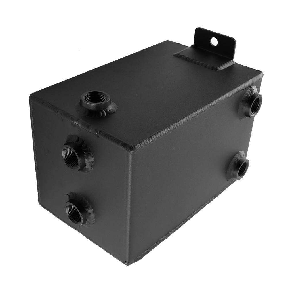 3L Racing Car Fuel Surge Tank Can Aluminum Automobile Repacking Tools Universal Black Fuel Tank