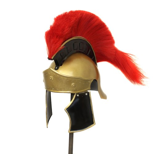 EC World Imports Antique Replica Greco Roman Red Plume Helmet by EC World Imports