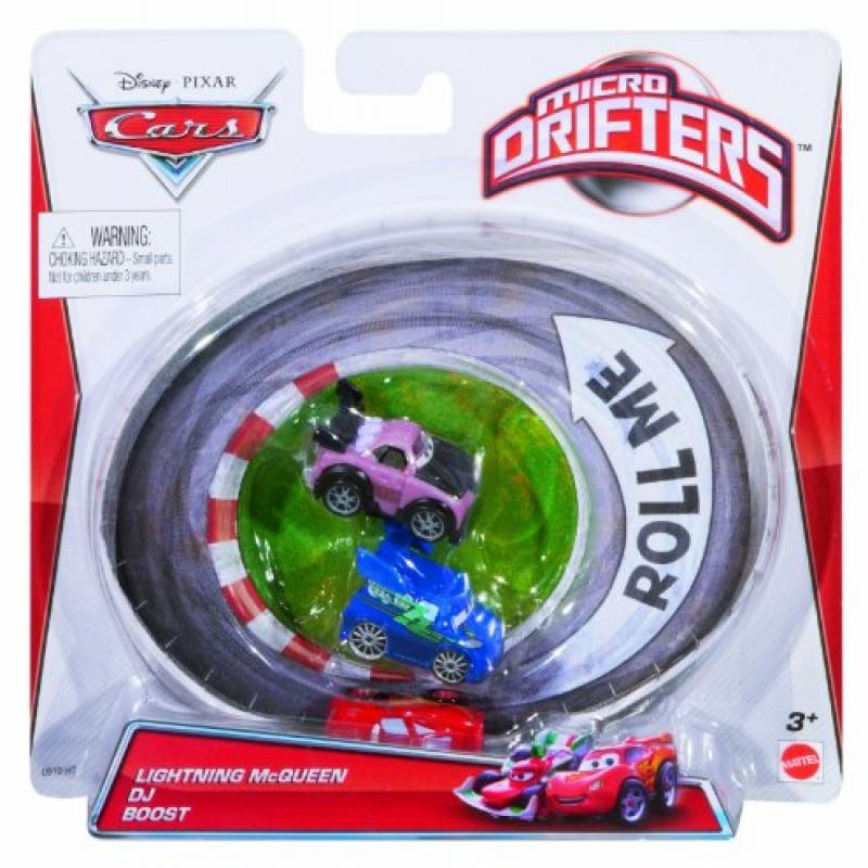 Mattel Cars Micro Drifters Lightning McQueen, DJ and Boos...