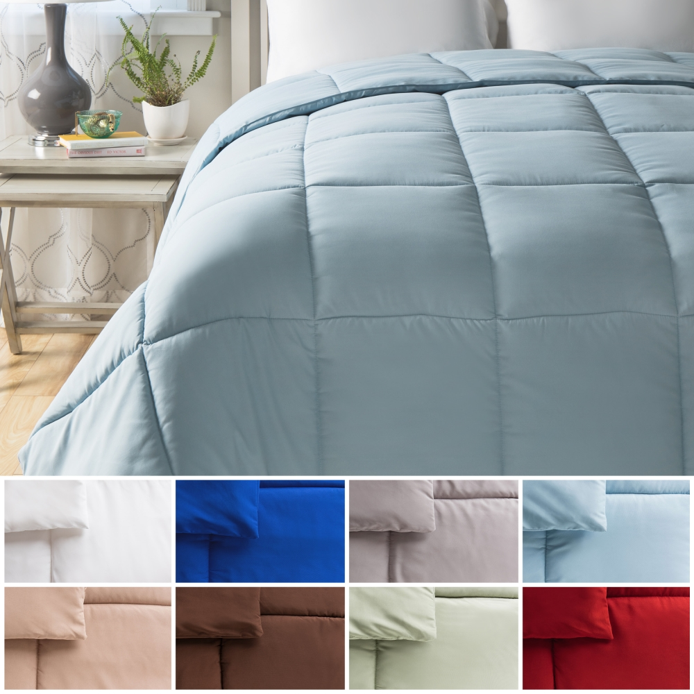 All Season Down Alternative Comforter Twin - White - By Cheer Collection