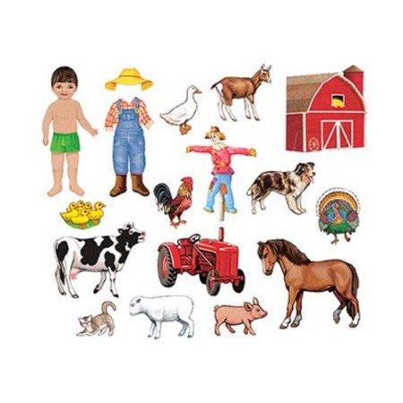 little folk visuals my farm friends precut flannel/felt board figures, 18 pieces add-on (Felt Board Figure Set)