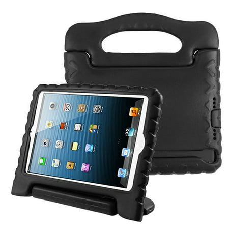 Apple iPad Mini 1 2 3 4 5 Generation Case for Kids Durable Shockproof Drop-resistant Protective Handle Bumper Stand Cover EVA Case for iPad Mini 5th Gen (2019) 4th 3rd 2nd 1st Tablet - BLACK