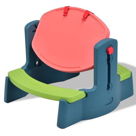 plastic height adjustable 2 in 1 children drawing table. Black Bedroom Furniture Sets. Home Design Ideas