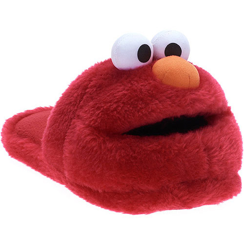 Sesame Street Adult Elmo Plush Slippers