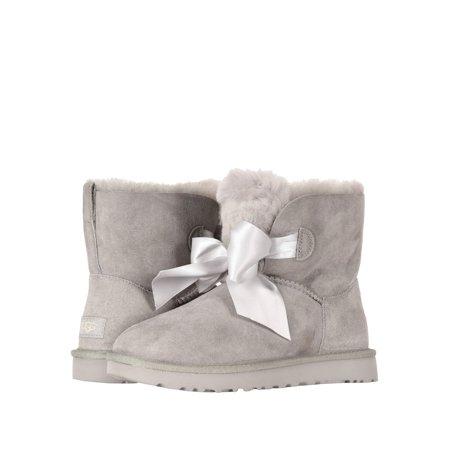 UGG Gita Bow Mini Women's Twinface Boots 1098360 - Light Blue Uggs With Bows